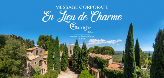 Message corporate en lieu de charme